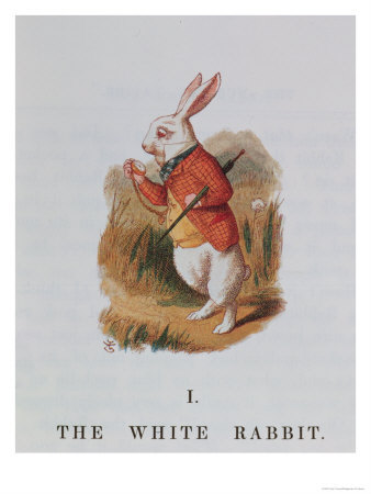 The-White-Rabbit-Illustration-from-Alice-in-Wonderland-Giclee-Print-C12631364