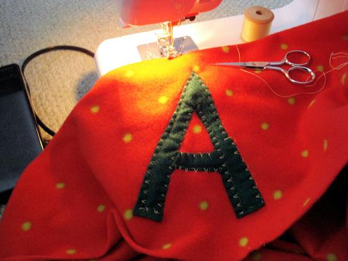 Felt embroidered blanket