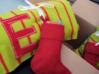 E blanket with felt stocking