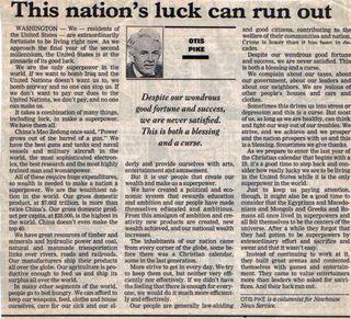 Otis Pike article 1999
